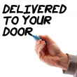 Hand Strategy Delivered To Your Door — Foto Stock