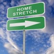 Stock Photo: Street Road Sign Home Stretch