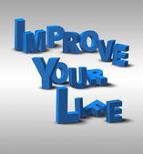 3D Text Inspiration Message Improve Your Life — Stock Photo