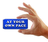 Hand Strategy At Your Own Pace — Stock Photo