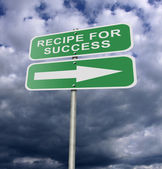 Street Road Sign Recipe For Success — Stock Photo