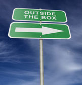 Street Road Sign Outside The Box — Stock Photo