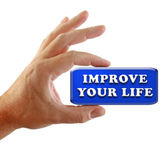Hand Strategy Improve Your Life — Stock Photo