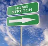 Street Road Sign Home Stretch — Stock Photo