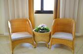 Ротанговый стул — Стоковое фото