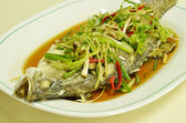 Steamed fish — Stock Photo