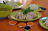Hainanese chicken rice — Stock Photo