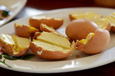 Grilled eggs — Stock Photo