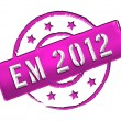 Stock Photo: EM 2012 - Stamp