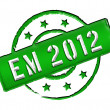 EM 2012 - Stamp — Stock Photo