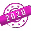 2020 - Stamp — Stock Photo #10143693
