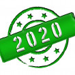 2020 - Stamp - Stock Photo