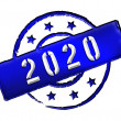2020 - Stamp — Stock Photo #10143752