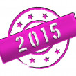 2015 - Stamp - Stock Photo