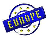 Europa - pieczęć — Zdjęcie stockowe