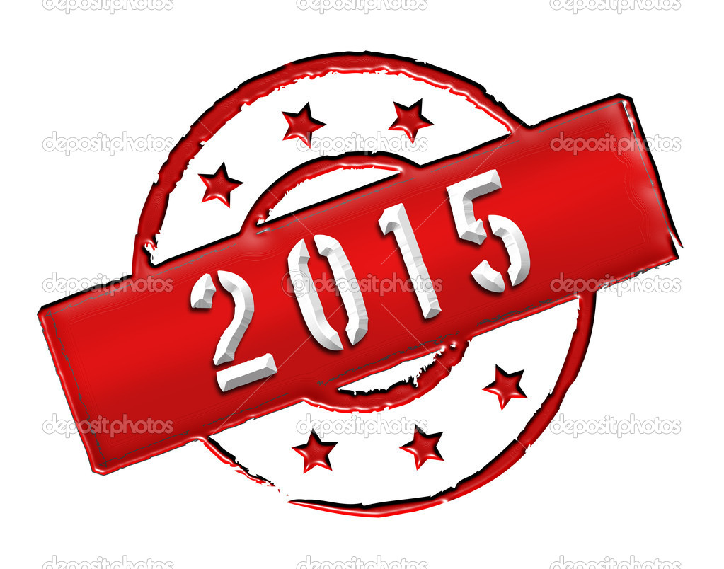 Sign and stamp named 2015 for your presentation, for websites and many more. — Stock Photo #10143886