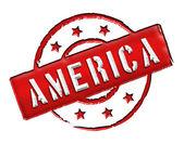 America - Stamp — Stock Photo