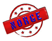 Norway Norge - Stamp — Stock Photo