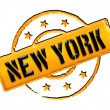 Stock Photo: Stamp - NEW YORK