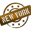 Stamp - NEW YORK — Stock Photo