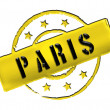 Stamp - PARIS — Stock Photo