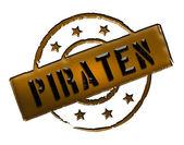 Stamp - Piraten — Stock Photo