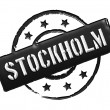 Stamp - Stockholm - Stock Photo