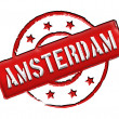 Stamp - Amsterdam - Stock Photo