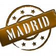Stamp - Madrid — Stock Photo