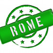 Stamp - Rome — Stock Photo