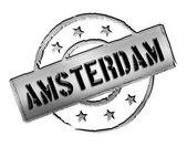 Stamp - Amsterdam — Stock Photo