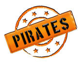 Stamp - Pirates — Stock Photo