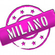 Stamp - Milano — Stock Photo