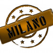 Stamp - Milano - Stock Photo