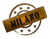 Stamp - Milano — Stock Photo