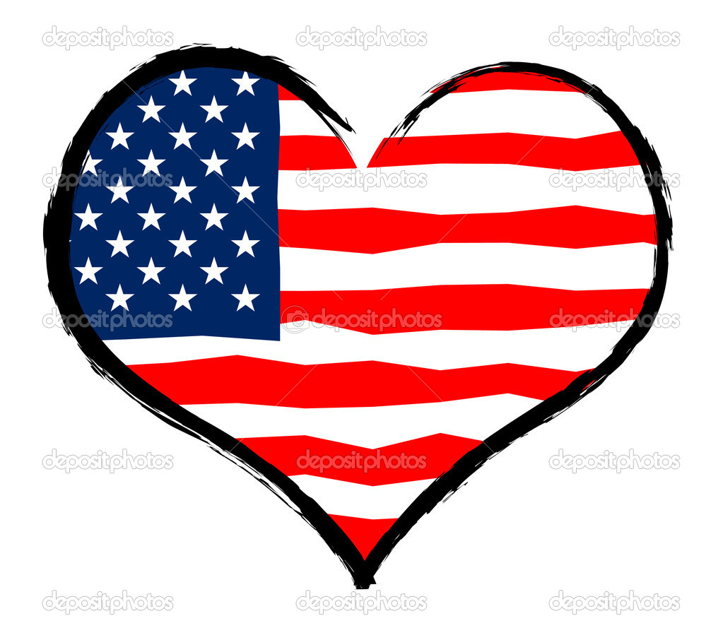USA - The beloved country as a symbolic representation as heart - Das geliebte Land als symbolische Darstellung als Herz — Lizenzfreies Foto #10465292