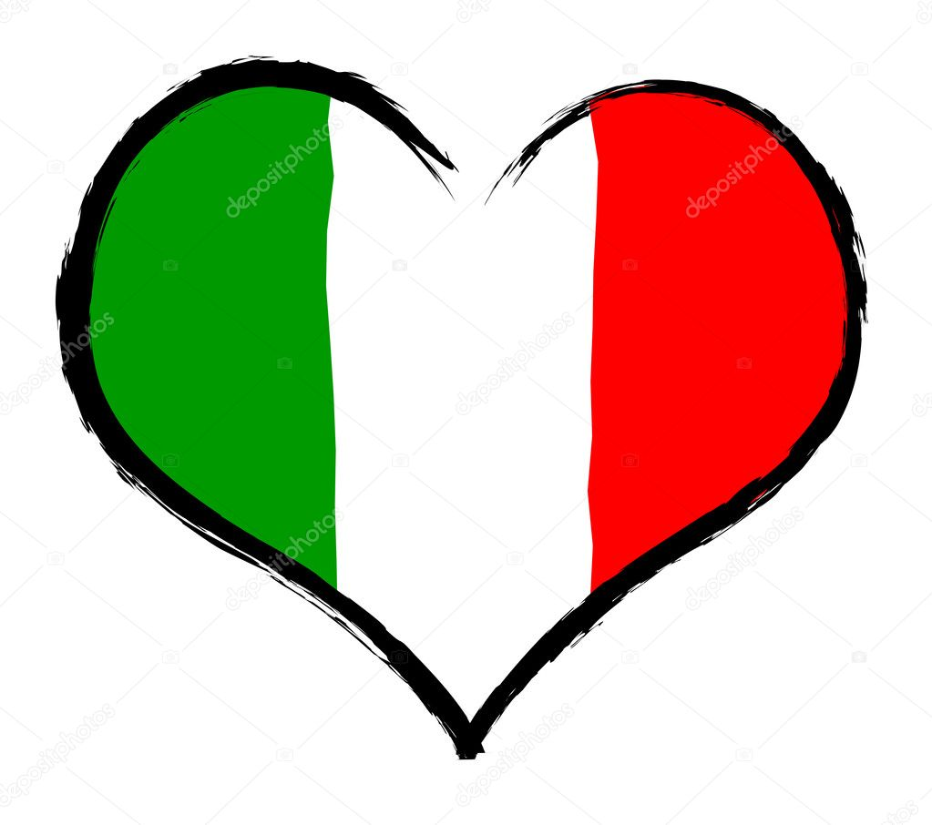 Italy - The beloved country as a symbolic representation as heart - Das geliebte Land als symbolische Darstellung als Herz — Stock Photo #10465316