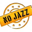 Stamp - No Jazz — Stock Photo