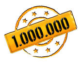 Stamp - 1.000.000 — Stock Photo
