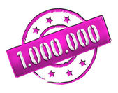 Stamp - 1.000.000 — Stock Photo