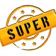 Stamp - SUPER — Stock Photo