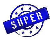 Stamp - SUPER — Stock Photo