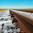 Rails to nowhere — Stock Photo