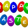 Happy Eastereggs — Stock Photo