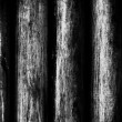 Stock Photo: Black and white fence