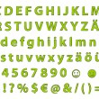 Stock Photo: Alphabet - green