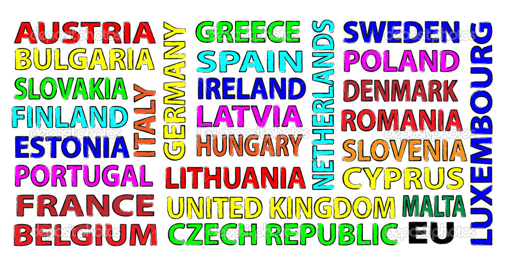 All states of the european union for your presentation  Stock Photo #9381147
