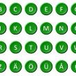 Alphabet - Signed and sealed Green — Stock Photo #9393492