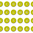 Alphabet - Signed and sealed Yellow — Stock Photo #9393518