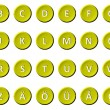 Stock Photo: Alphabet - Signed and sealed Yellow